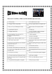 If clauses - CSI video activity
