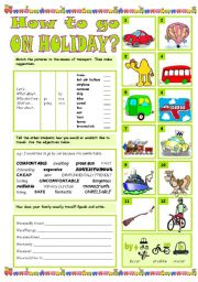 English worksheet: HOW TO GO ON HOLIDAY