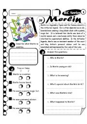 English Worksheets: RC Series Level 1_38 Merlin (Fully Editable + Key)