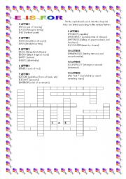 English Worksheets: E is for ...