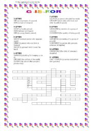 English Worksheets: G is for ...