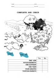 English Worksheets: There Are
