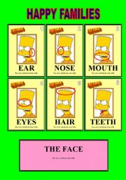 English Worksheets: HAPPY FAMILIES WS#4 Bart�s face