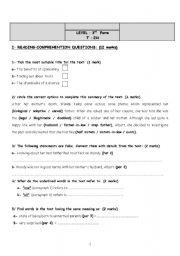 end term test 3rd form