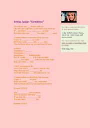 English Worksheet: Britney Spears