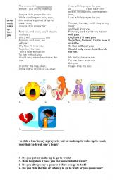 English Worksheets: Song - Say a little prayer for you