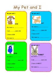 English Worksheets: My pet and I