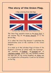 English Worksheet: The story of the UK Flag