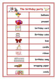 english worksheets birthday vocabulary poster. Black Bedroom Furniture Sets. Home Design Ideas