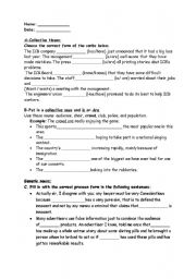Printables Types Of Nouns Worksheet english worksheets emphatic page 2 type worksheet nouns