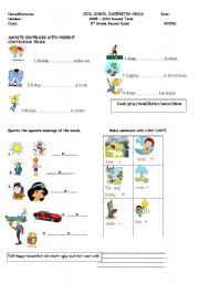 mix worksheet for kids.(can/should/present continious ...