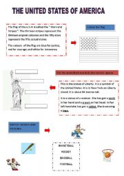 English Worksheets: The U.S.A