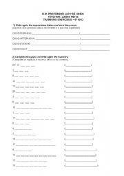 English Worksheets: Greetings and Numbers