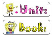 English Worksheets: White Board decoration and Labels ( 8 labels / 4 pages)/