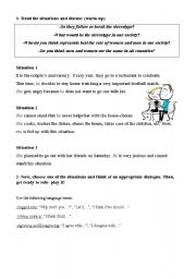 English Worksheet: Stereotypes -dialogues
