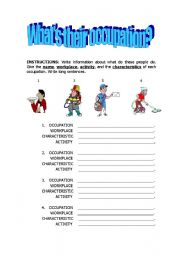 English Worksheets: Describing occupations