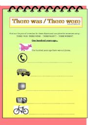 English Worksheets: There was /There Were