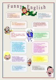 English Worksheets: Funny English