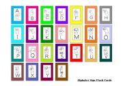 English Worksheets: Mini Sign Language Flash Cards