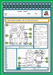 English Worksheet: WHO IS WHO? (CLOTHES)