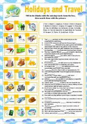 English Worksheet: Holidays and Travel Exercises