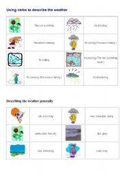 English Worksheet: vocabulary of weather