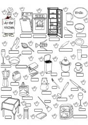 Kitchen Items Esl Worksheet By Angelamoreyra