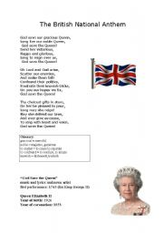 English Worksheets: God Save the Queen