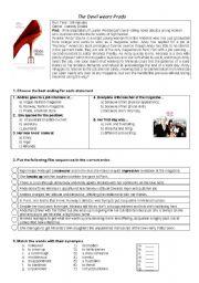 English Worksheets: DEVIL WEARS PRADA
