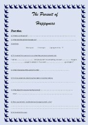 English Worksheet: The Pursuit of HappYness part 3