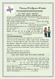 English Worksheet: voluntary work worksheet