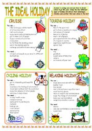 English Worksheet: THE IDEAL HOLIDAY 3