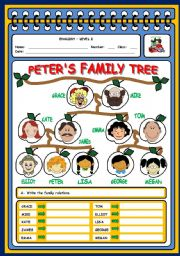 English Worksheet: FAMILY - 2 PAGES