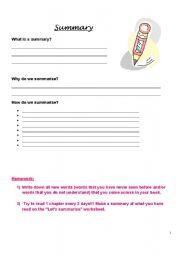English Worksheets: Summarising