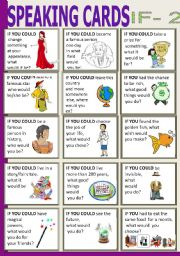 English Worksheets: SPEAKING CARDS - if 2
