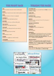 English Worksheet: The Newspaper - Part 2