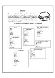 English Worksheets: Be The Chef