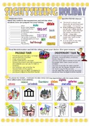 English Worksheet: SIGHTSEEING HOLIDAY