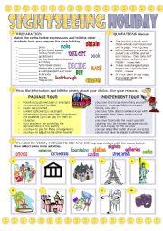 English Worksheets: SIGHTSEEING HOLIDAY