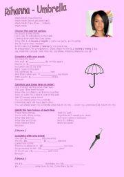 English Worksheet: Rihanna Umbrella