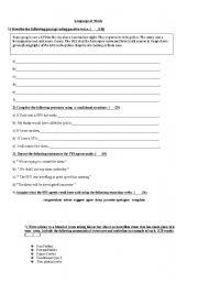 English Worksheet: Grammar for Pre- First Certificate