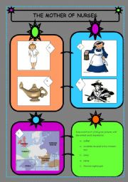 English Worksheets: FLORENCE NIGHTINGALE - THE MOTHER OF THE NURSES