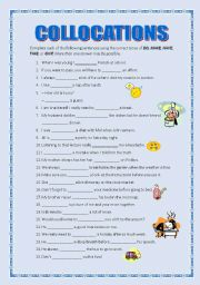 Do and make students must fill in the gaps using the correct verb and