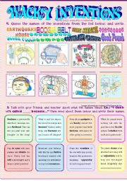 English Worksheet: Wacky Inventions 2