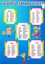 English Worksheet: Suffixes 3
