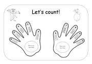 English Worksheet: Let�s count!! 1 to 10