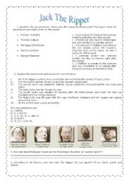 English Worksheets: Vic Reeves investigates: Jack the Ripper