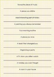 English Worksheets: I-minute-Speech