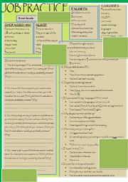 English Worksheets: JOB PRACTICE ( 2 pages)