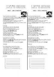 English Worksheet: Phonetic Alphabet Song - Smile Uncle  Kracker